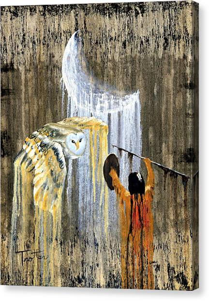 American Cowboy Canvas Print - Spirit Of The Night by Patrick Trotter