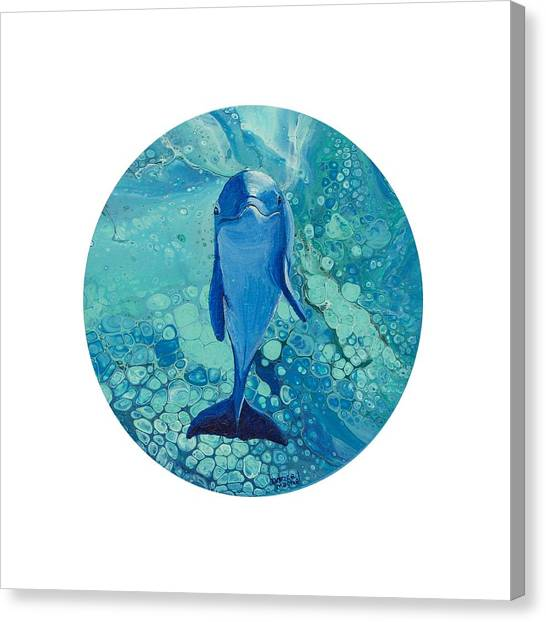 Canvas Print featuring the painting Spirit Of The Ocean by Darice Machel McGuire