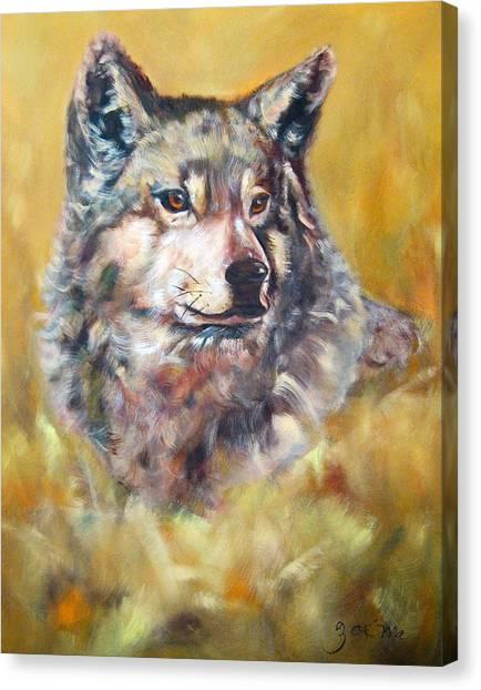 Canvas Print - Spirit Of Wolf by Zoe Landria