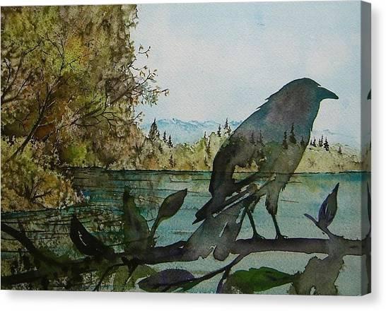 Spirit Raven Canvas Print