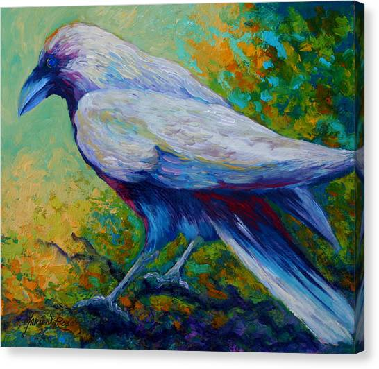 Ravens Canvas Print - Spirit Raven by Marion Rose