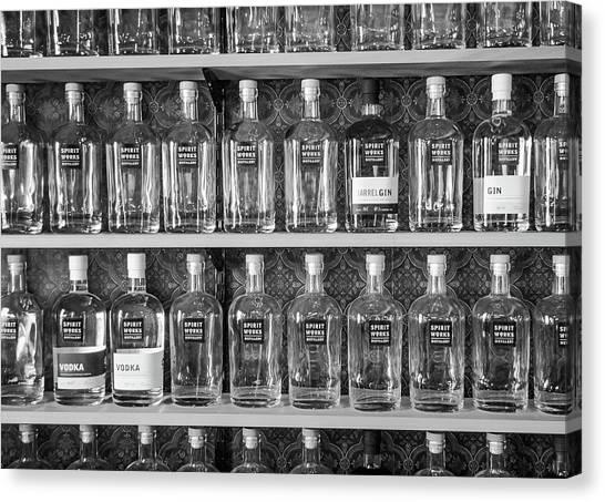 Spirit World Bottles Canvas Print