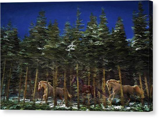 Canvas Print featuring the photograph Spirits Of The Forest by Melinda Hughes-Berland