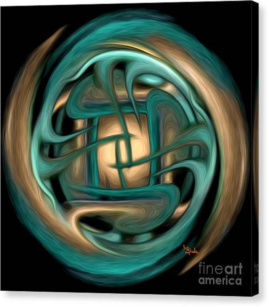 Spiritual Art - Healing Labyrinth By Rgiada Canvas Print