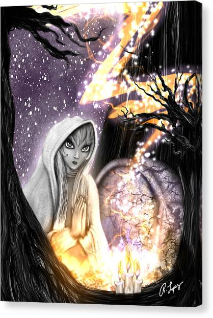 Spiritual Ghost Fantasy Art Canvas Print