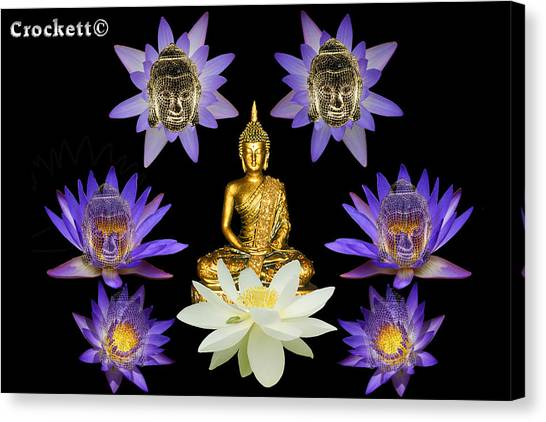 Spiritual Water Lilly Canvas Print