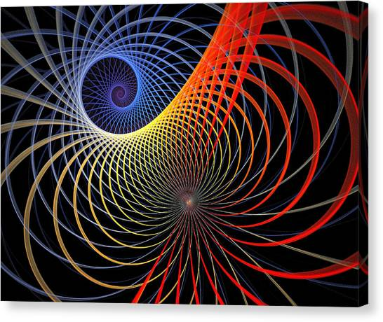 Abstract Digital Art Canvas Print - Spirograph by Amanda Moore