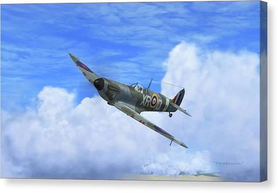 Spitfire Airborne Canvas Print