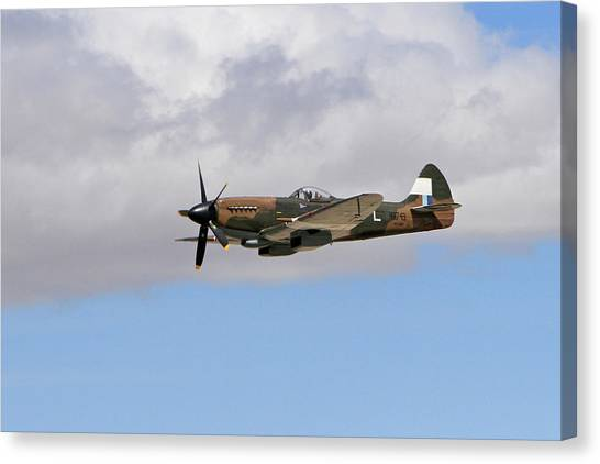 Wii Canvas Print - Spitfire In The Clouds by Shoal Hollingsworth