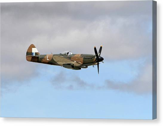 Wii Canvas Print - Spitfire In The Sky by Shoal Hollingsworth