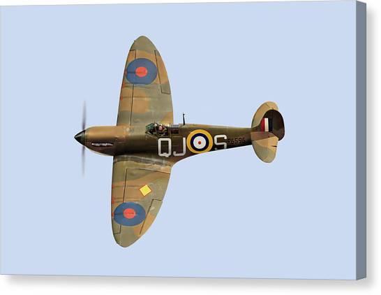 Spitfire Mk 1 R6596 Qj-s Canvas Print
