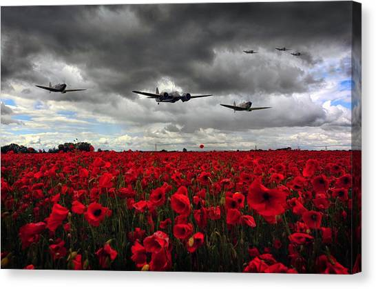Spitfires And Blenheim Canvas Print
