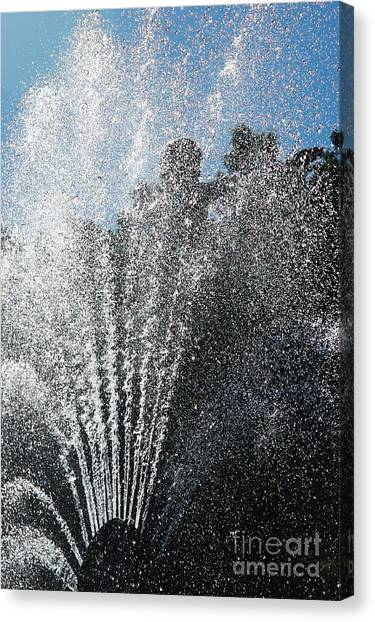 Splash Into The Sky Canvas Print by Hideaki Sakurai