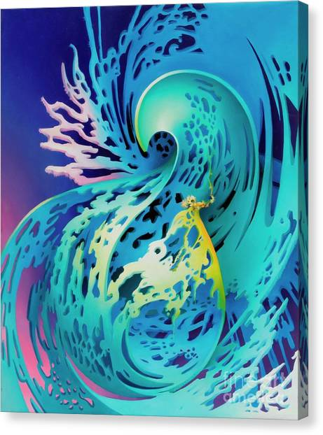 Splash Canvas Print by Symona Colina