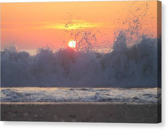 Splashing High Canvas Print