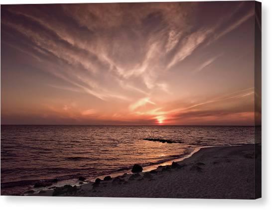 Southwest Florida Sunset Canvas Print - Splendid Florida Gulf Coast Sunset  -  Sunsetgulfcoastfl167514 by Frank J Benz