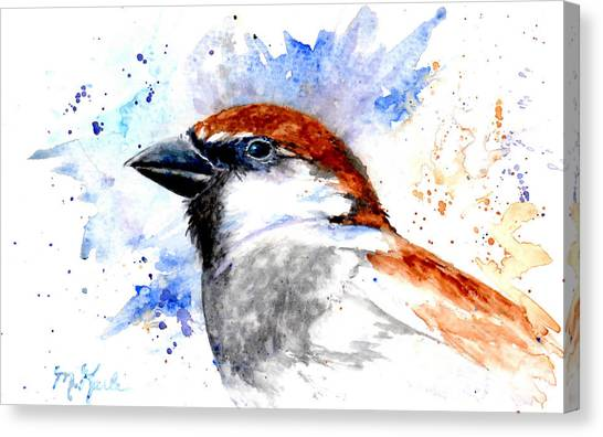 Splendid Sparrow Canvas Print