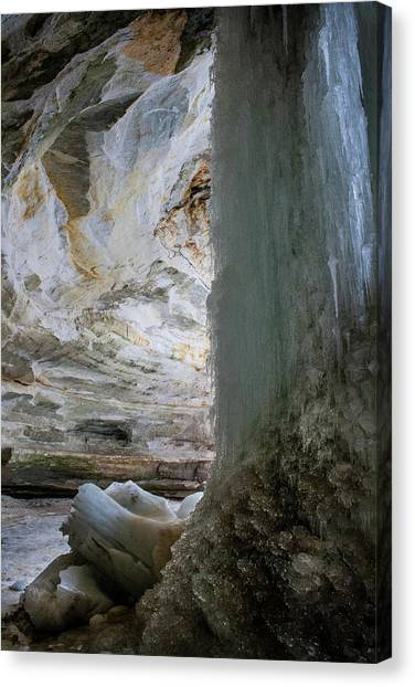 Ice Caves Canvas Print - Split by Nancy Dinsmore