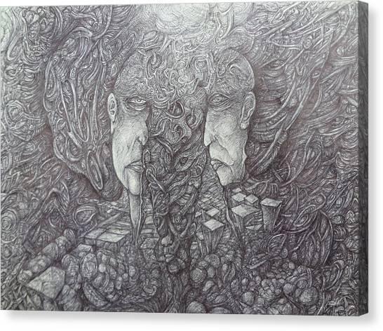 Political Science Canvas Print - Split by Paul Shields