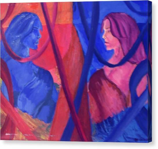 Split Personality Canvas Print by Vykky Gamble