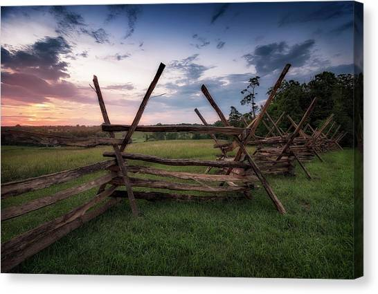 Canvas Print featuring the photograph Split Rail Fence by Ryan Wyckoff