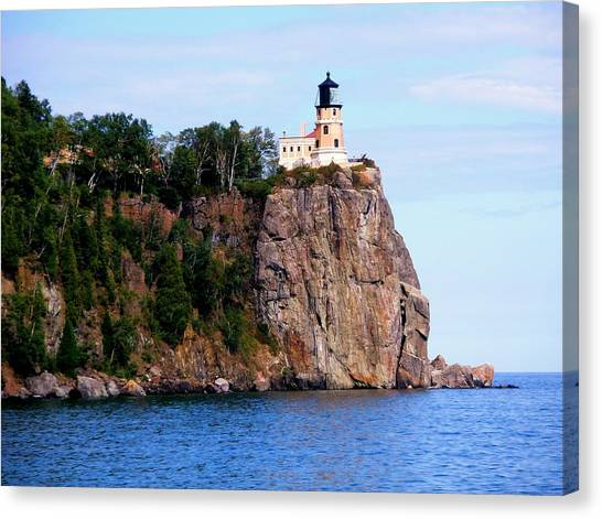 Split Rock Lighthouse Canvas Print by Bridget Johnson