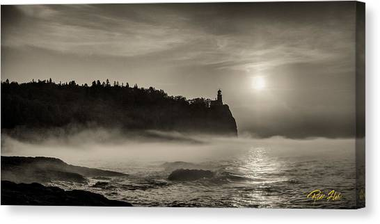 Split Rock Lighthouse Emerging Fog Canvas Print