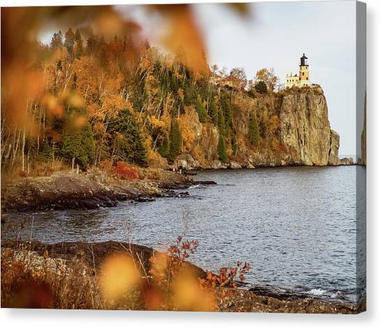 Canvas Print featuring the photograph Split Rock Lighthouse by Whitney Leigh Carlson