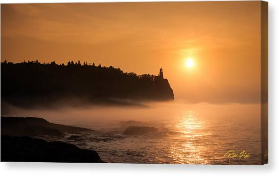 Split Rock's Morning Glow Canvas Print