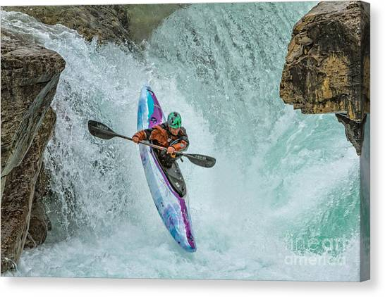 Split Second Of Air Canvas Print