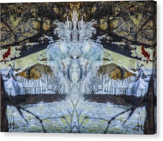 Split The Falls Canvas Print