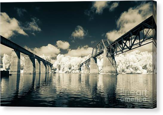 Congaree Trestles Cayce, Sc Canvas Print
