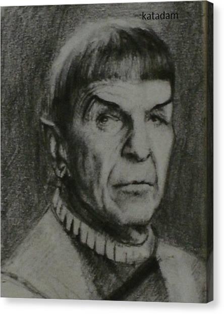 Spock Canvas Print - Spock #spock #startrek by Kata Adam
