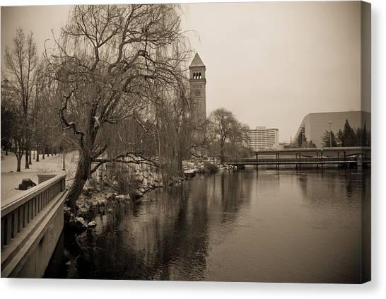 Spokane Winter Canvas Print