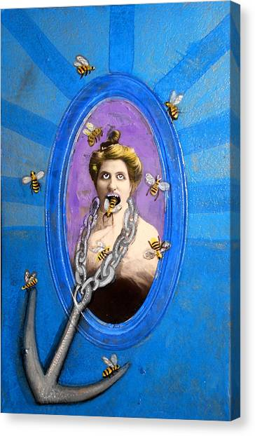 Spoke In Bees Canvas Print