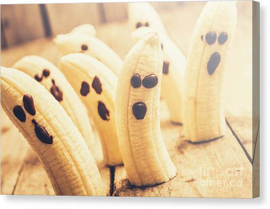 Bananas Canvas Print - Spooky Seasonal Snacks by Jorgo Photography - Wall Art Gallery