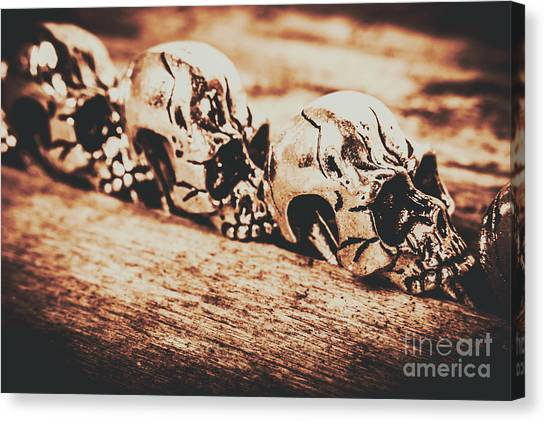 Skeletons Canvas Print - Spooky Skeleton Craniums  by Jorgo Photography - Wall Art Gallery