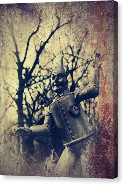 Spooky Tin Man Wizard Of Oz Canvas Print
