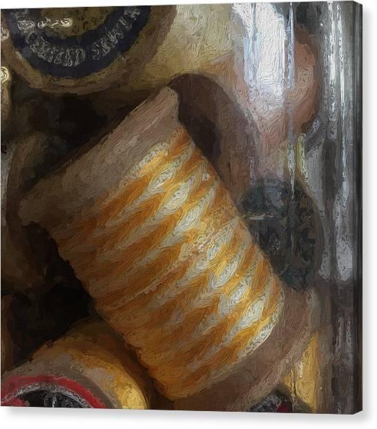 Canvas Print - Spool Of Striped Thread by Modern Art