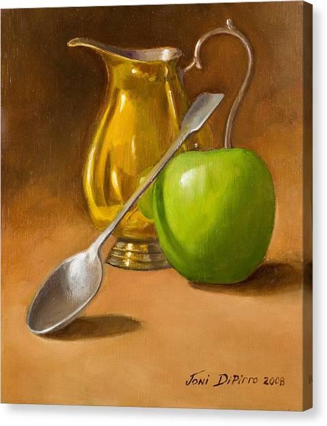 Canvas Print - Spoon And Creamer  by Joni Dipirro
