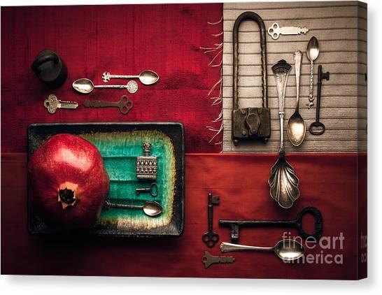 Spoons, Locks And Keys Canvas Print