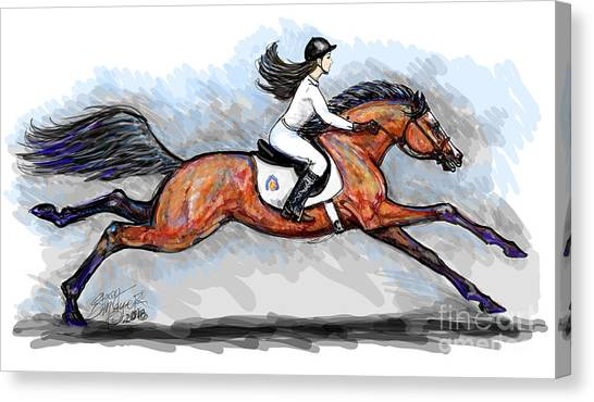 Sport Horse Rider Canvas Print