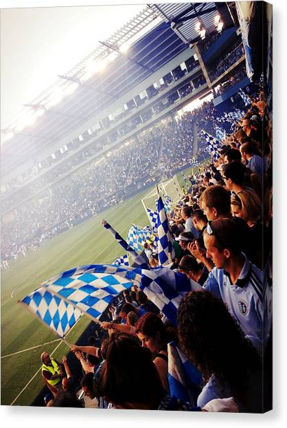 Sporting Kansas City Canvas Print - Sporting Kansas City by Stacia Weiss