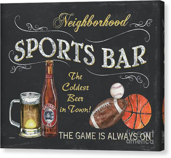 Pub Canvas Print - Sports Bar by Debbie DeWitt