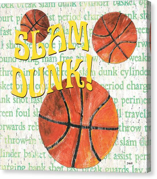 Slam Dunk Canvas Print - Sports Fan Basketball by Debbie DeWitt