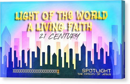 Spotlight Jesus Canvas Print