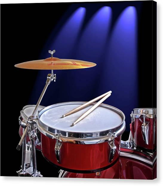 Percussion Instruments Canvas Print - Spotlight On Drums by Gill Billington