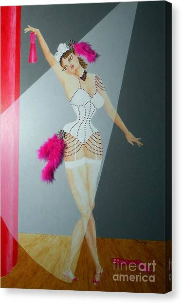Spotlight On Gypsy -- #5 In Famous Flirts Series Canvas Print