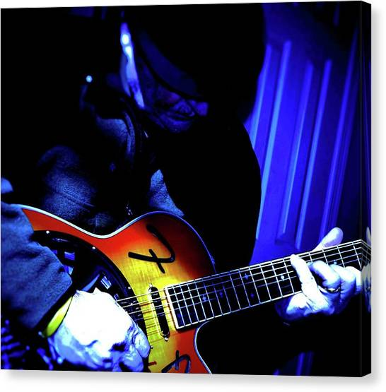 Slide Guitars Canvas Print - Spotlight by Robert Lowe