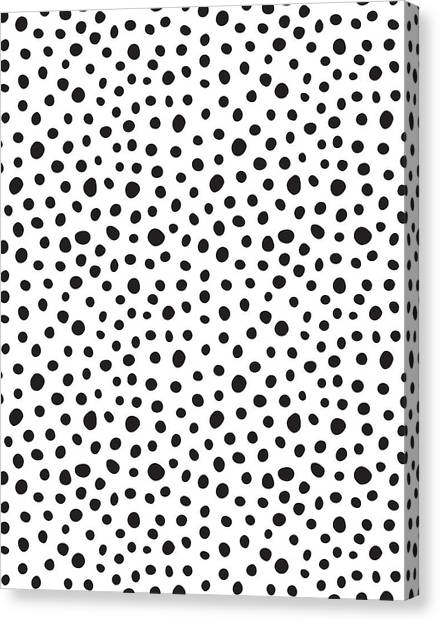 Black And White Canvas Print - Spots by Rachel Follett